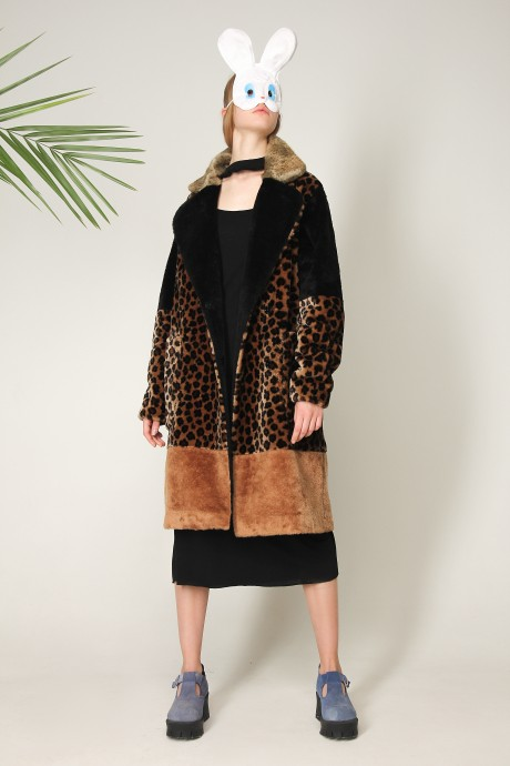 Eco-fur coat Leo