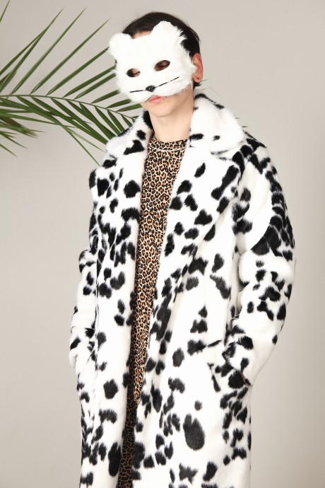 Unisex eco-fur coat